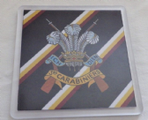 3rd CARABINIERS ( PRINCE OF WALES'S DRAGOON GUARDS ) LARGE ACRYLIC COASTER